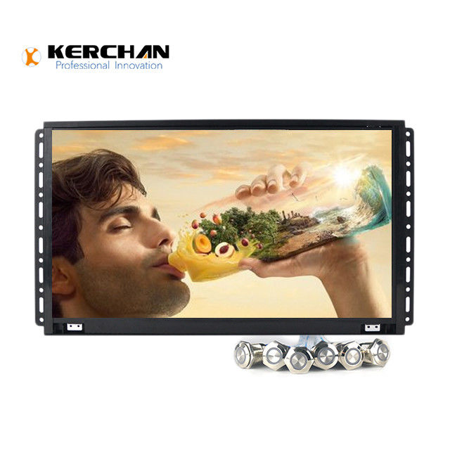 "15.6"" Open Frame Full HD LCD Screen Full View Angle With Push Button"
